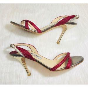 💋JimmyChoo Burgundy Glitter Heels!